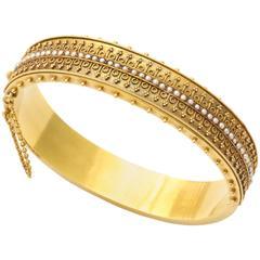 15 Kt Natural Pearl Architectural Revival Bracelet