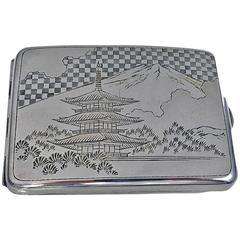 1920s Fine Japanese 950 Silver Case
