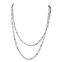 1900 Silver Filigree Chain Necklace