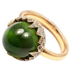 Pomellato Chimera Peridot Diamond Two Color Gold Ring