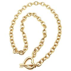 Tiffany & Co. Heart And Arrow Link Toggle Gold Necklace