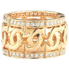 Cartier Diamond Gold C Collection Band Ring