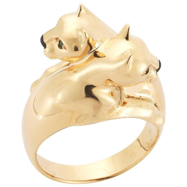 Cartier Gold Panther Bypass Ring 1