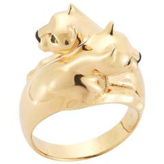 Cartier Gold Panther Bypass Ring