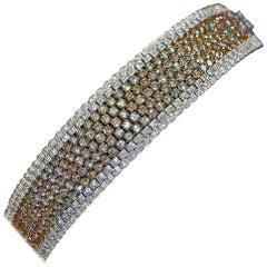 Fancy Color Cognac Diamond Bracelet