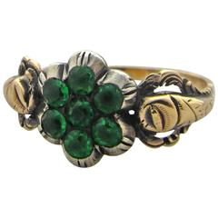 Antique Paste and Gold Cluster Ring