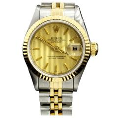Rolex Ladies Yellow Gold Stainless Steel Oyster Datejust Wristwatch