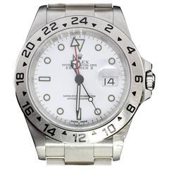 Rolex Stainless Steel White Dial Explorer II Wristwatch Ref 16570
