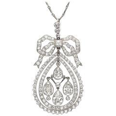 Art Deco Diamond Platinum Pendant