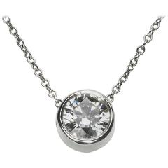 .72 Carat GIA Cert Single Stone Diamond Platinum Pendant