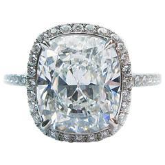 Harry Winston 4.44 Carat GIA Cert Diamond Platinum Wedding Set