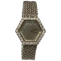 Boucheron Ladies White Gold Diamonds Self Winding Wristwatch