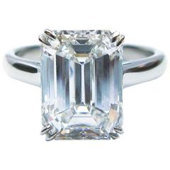 Tiffany & Co. 4.18 Carat Diamond Platinum Solitaire Engagement Ring