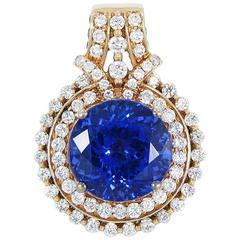 LeVian 7.11 Carat Tanzanite Diamond Gold Pendant