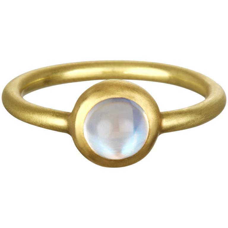 Faye Kim Ceylon Moonstone Gold Ring 1