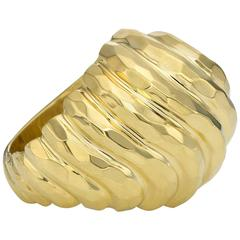 Henry Dunay Classic Gold Faceted Domed Ring