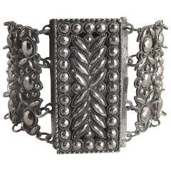 Antique Cut Steel Link Bracelet