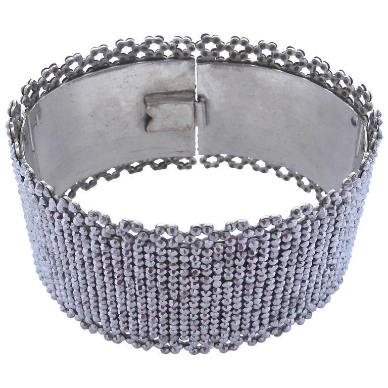 Antique Cut Steel Cuff Bracelet