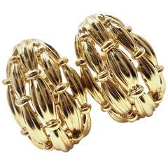Tiffany & Co. Large Gold Earrings