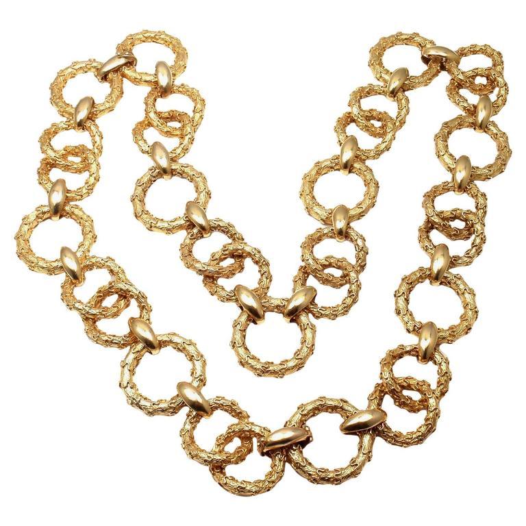 Hammerman Brothers Gold Link Bracelet And Necklace