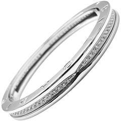 Bulgari B.Zero1 Pave Diamond Gold Bangle Bracelet