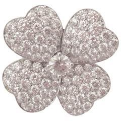 "Van Cleef & Arpels ""Cosmos"" Collection Brilliant Diamonds Gold Ring"