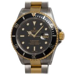Rolex Yellow Gold Stainless Steel Submariner Wristwatch Ref 16613 2005