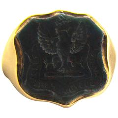 Antique Bloodstone Gold Ring