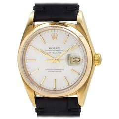 Rolex Yellow Gold Datejust Self Winding Wristwatch Ref 16018 1978