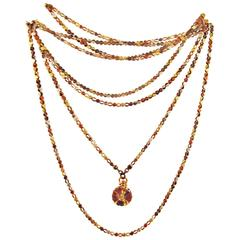 Antique Mixed Metals Shakudo Chain with Drop