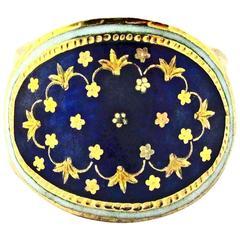 Antique Enamel Gold Ring