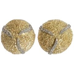 Boris LeBeau Diamond Gold Earrings