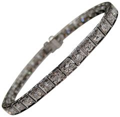 Marcus Art Deco Diamond Platinum Line Bracelet