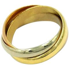 Cartier Tricolor Gold Trinity Collection Rolling Bands Ring