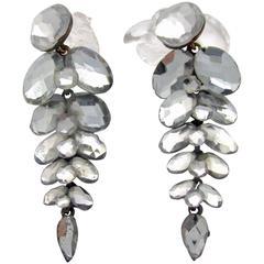 Antique Vauxhall Glass Drop Earrings