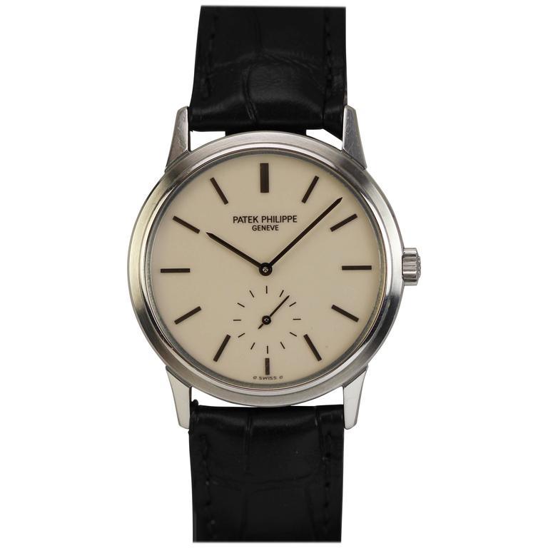 Patek Philippe Stainless Steel Calatrava Japanese Special Ed Wristwatch Ref 3718 1