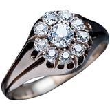 19th Century Antique Diamond Gold Men's Cluster Ring