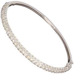 Diamond Gold Bangle Bracelet