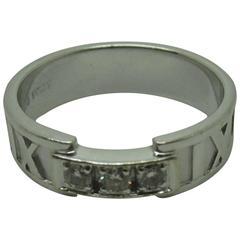 Tiffany & Co. Atlas Diamond Gold Ring