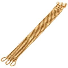 1999 Cartier Ten Strand Gold Bead Bracelet