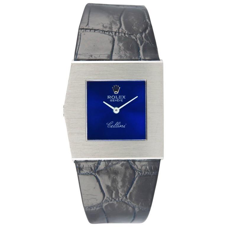 Rolex White Gold Cellini Midas Manual Wind Wristwatch Ref 4017 1