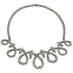 Sterlé Diamond Palladium Necklace