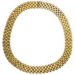 Antique Gold Collar Necklace