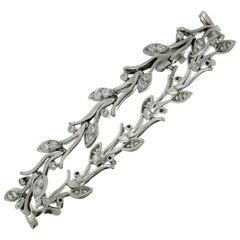 Tiffany & Co. Diamond Platinum Garland Bracelet