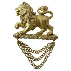 SeidenGang Diamond Gold Lion Pin