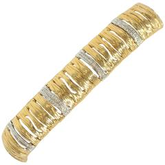 Roberto Coin Diamond Gold Elephant Skin Bracelet
