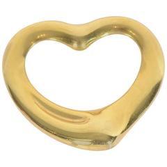 Tiffany & Co. Elsa Peretti Gold Open Heart Pendant