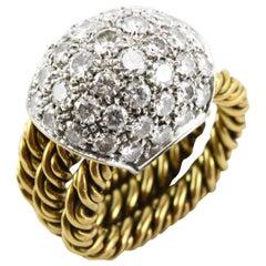 Pomellato Diamond 18 Karat White Gold Ring