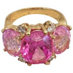 Medium GUM DROP™ Ring with Pink Topaz and Diamonds