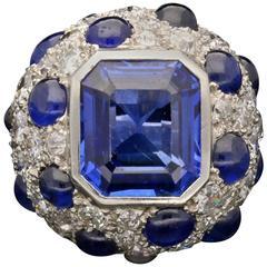 1940s  Suzanne Belperron Modèle à Pois Diamond Sapphire Ring